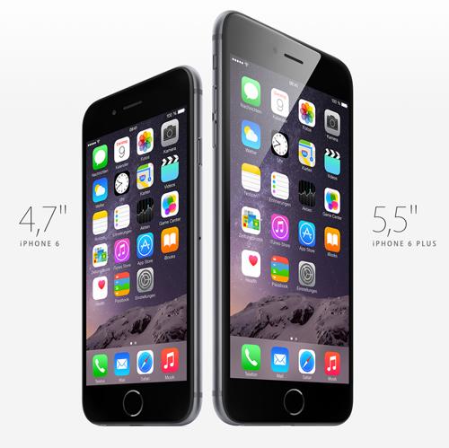 Größenvergleich iphone 6 Modelle